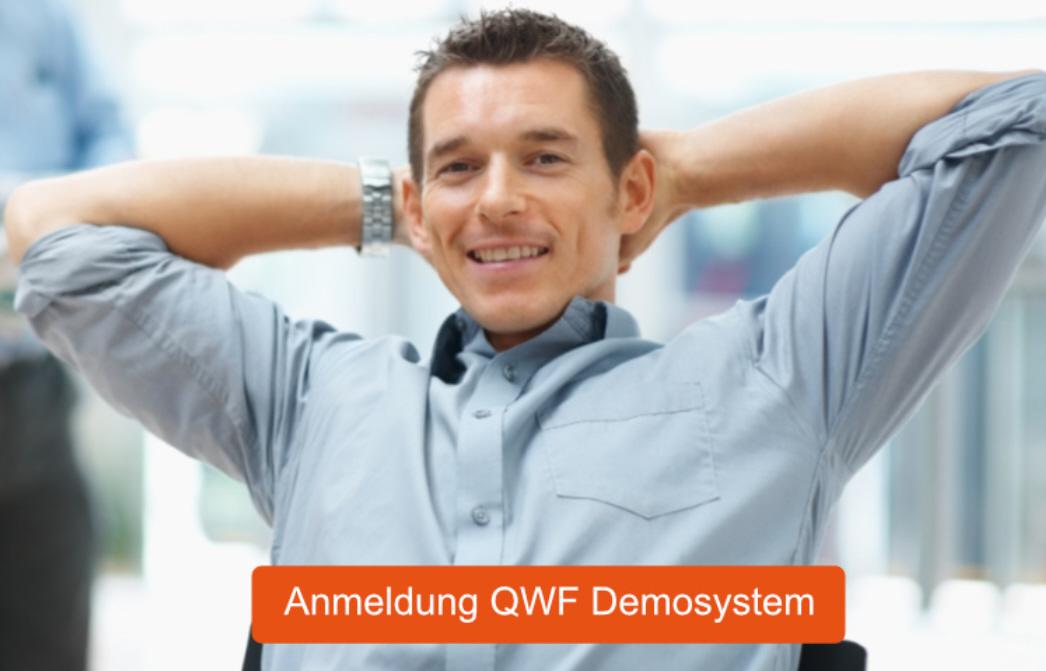 Anmeldungsmaske QWF Demosystem
